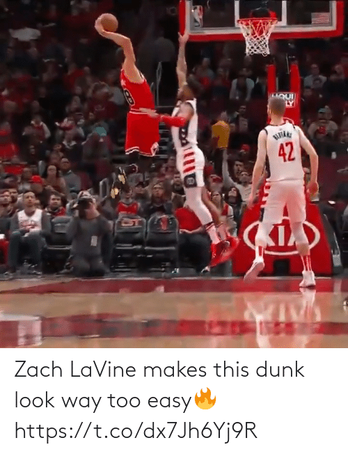 way: Zach LaVine makes this dunk look way too easy🔥 https://t.co/dx7Jh6Yj9R