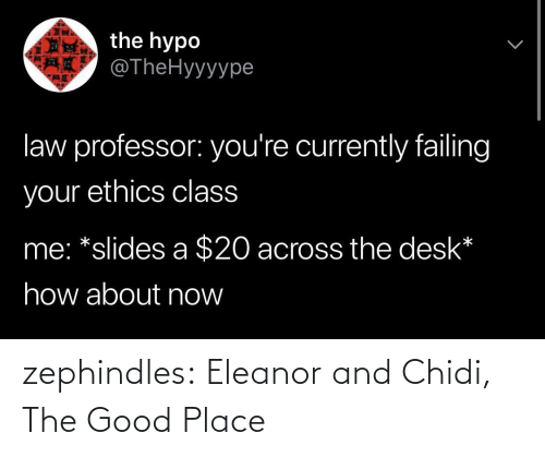 tumblr: zephindles: Eleanor and Chidi, The Good Place