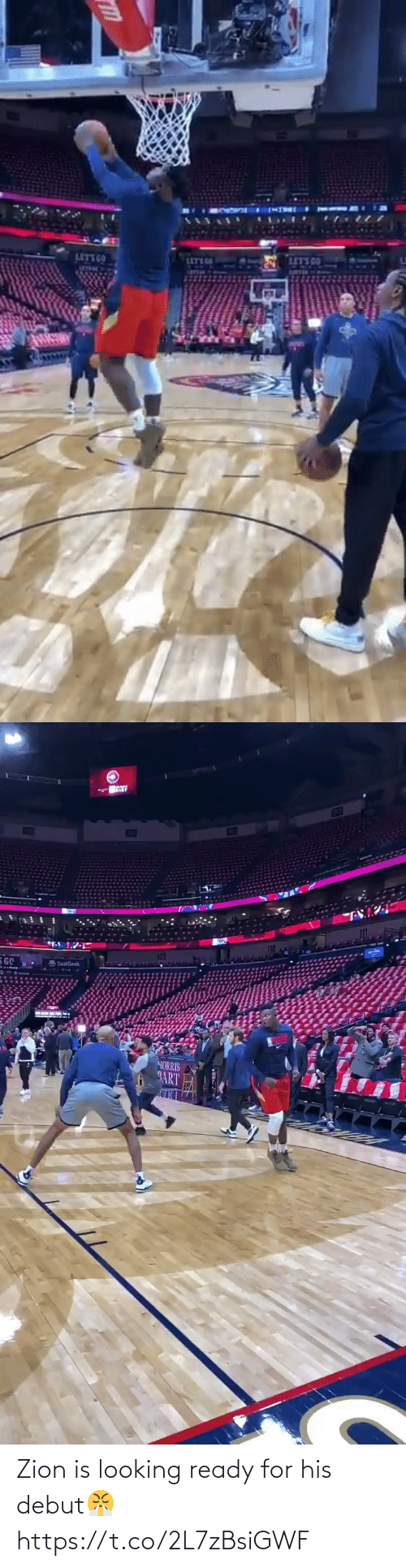 looking: Zion is looking ready for his debut😤 https://t.co/2L7zBsiGWF