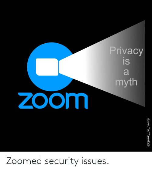 security: Zoomed security issues.
